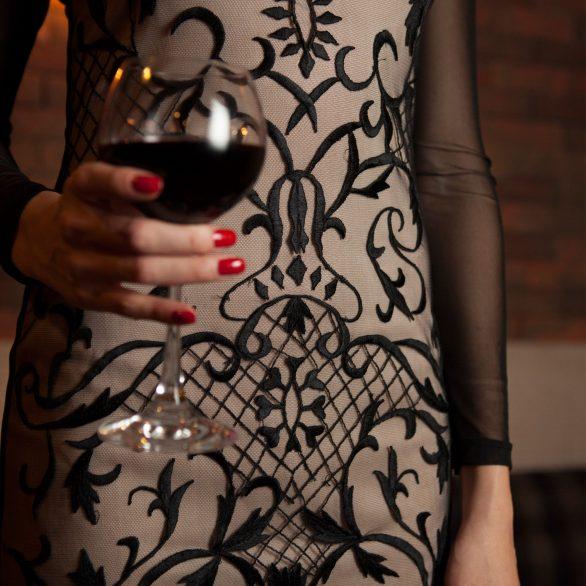 Embroidery Long Sleeve Dress