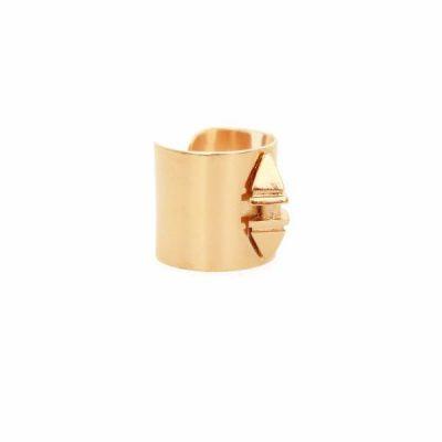 Shan Bullet Gold Ring