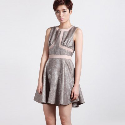 Diamond Flare Sleeveless Dress