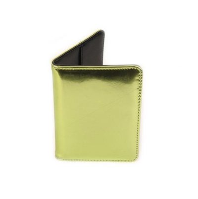 Mirror Passport Holder - Bright Lime