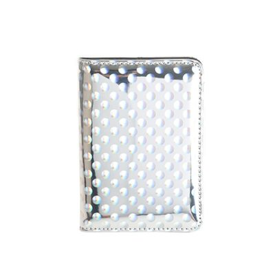 Mirror Passport Holder - Silver Dot