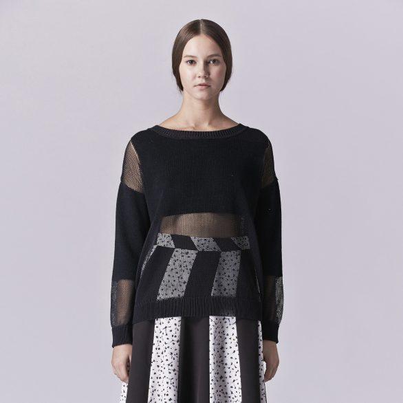 Ambrose Sheer Black Pullover