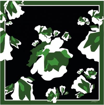Blossom Silk Square Scarf