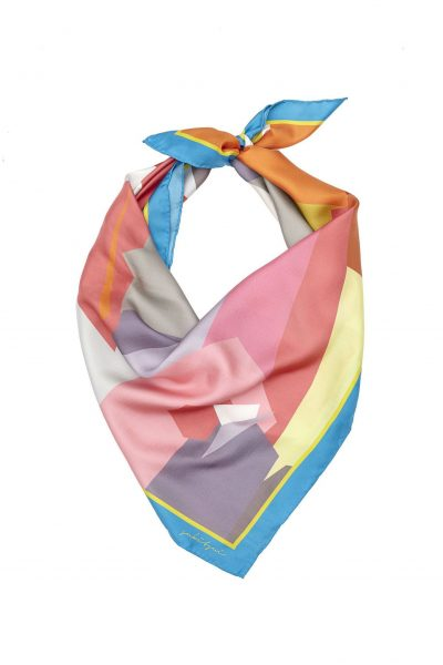 Lips Silk Square Scarf