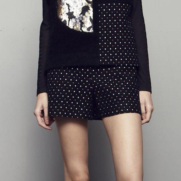 Dot Textured Shorts