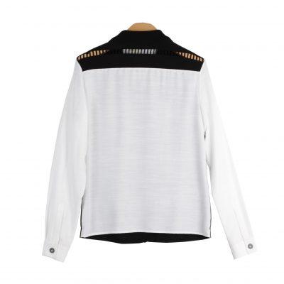 Ibis Striped Mixed Media Shirt