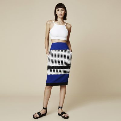 Jervis Colourblock High-Waisted Skirt