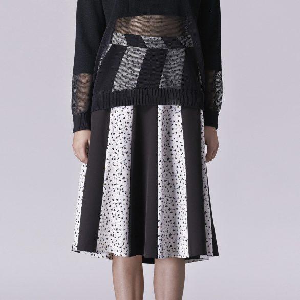 Oino Print Block Skirt