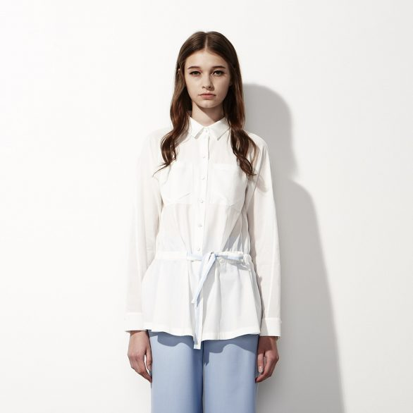 Cotton Shirt with Drawstring