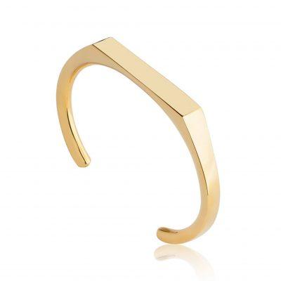 Angled Gold Cuff