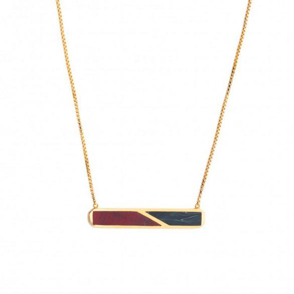 Prism Agate & Black Marble Necklace