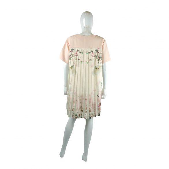 Back Pleats Dress - Pink