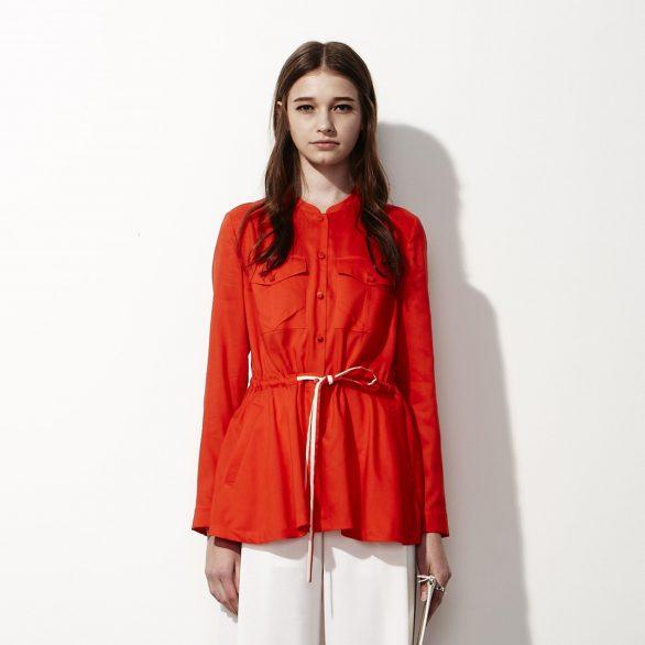 Drawstring Long-sleeve Shirt