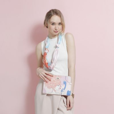 Call Me Baby Square Silk Scarf