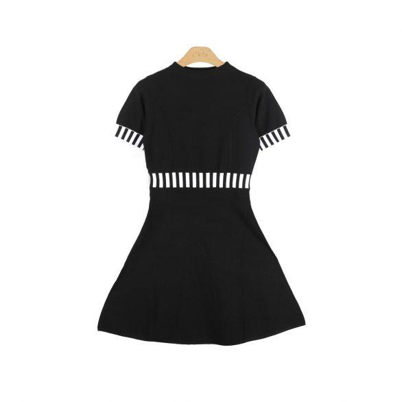 Talia Colourblocked Fit and Flare Dress - Black