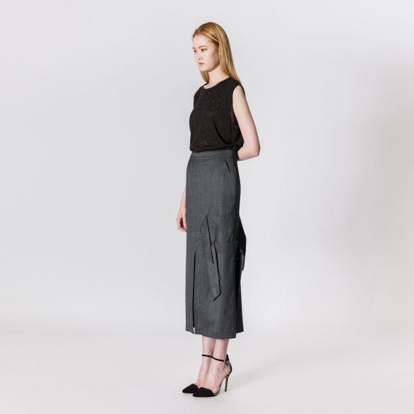 Charcoal Long Skirt