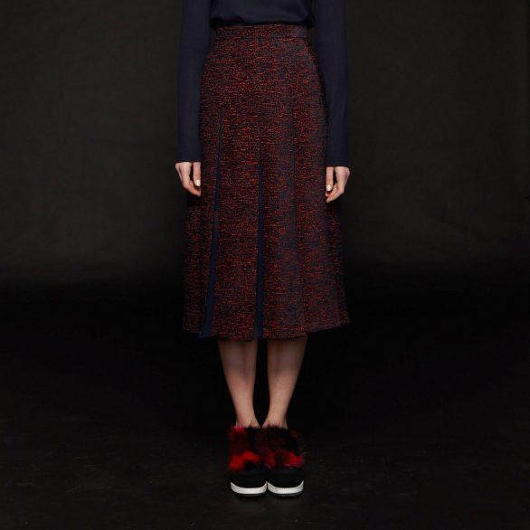 Rosemoore Contrasting Slashed Panel Skirt