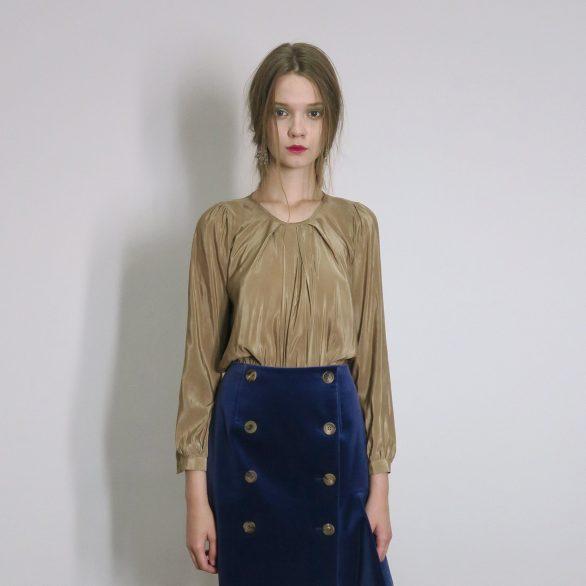 Silk Shirring Blouse