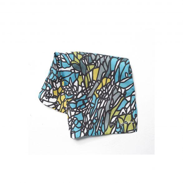 Atienza Blue Silk Pocket Square [25x25cm]
