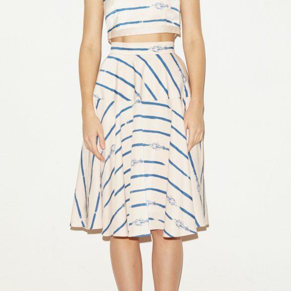 Blue Crab Flare Skirt