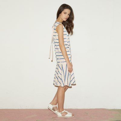 Blue Crab Sleeveless Dress