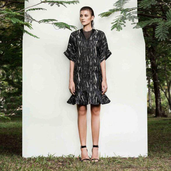 Cecillie Jacquard Dress