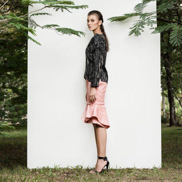 Kateline Peplum Skirt - Pink
