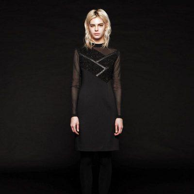 Elia Seethrough Longsleeve Dress