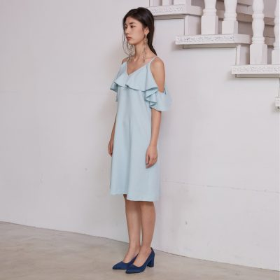 Skyblue Flounce Dress