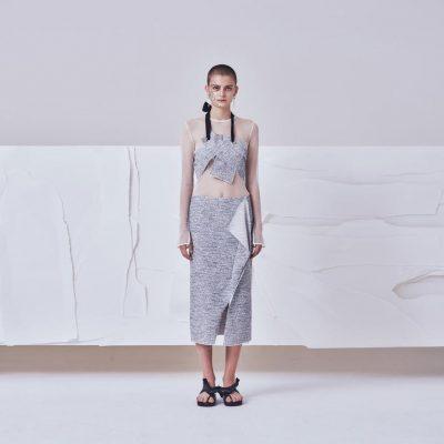 Folded Midi Skirt