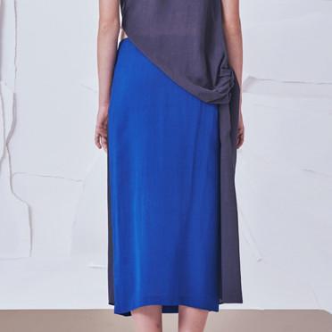 Tie Midi Skirt