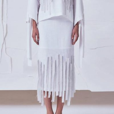 Strips Midi Skirt