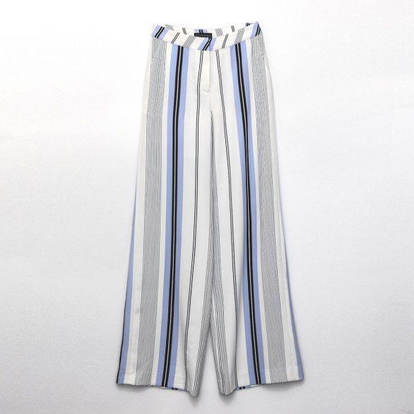 Jil Striped Wide-Leg Trousers