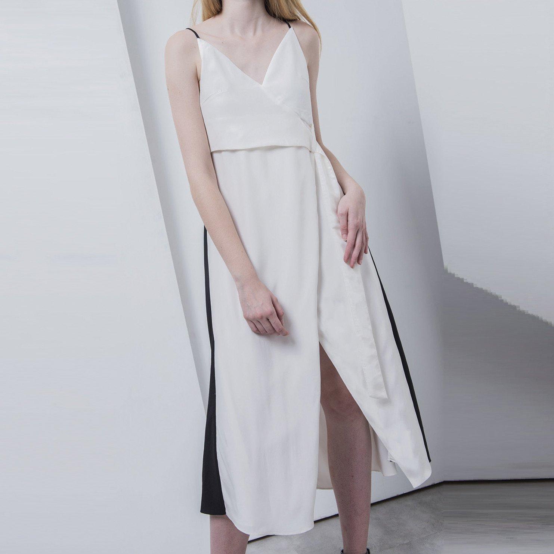 Alexandra\' Three Tone Silk Slip Dress