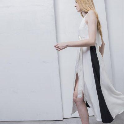 Alexandra' Three Tone Silk Slip Dress