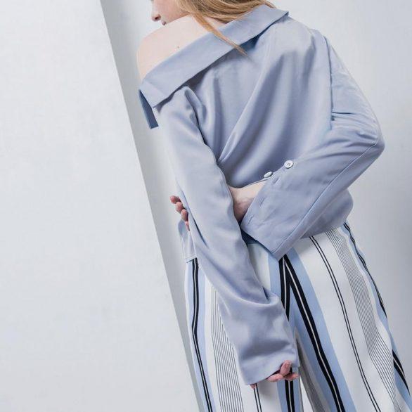 Penelope Asymmetric Collared Shirt