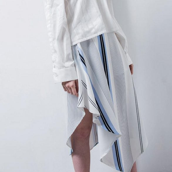 Christy Asymmetric Drape Skirt