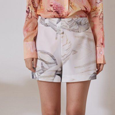 White Circle Shorts