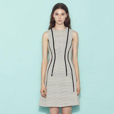 Adonia Dress - Grey/Black