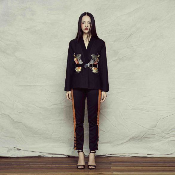 Qi Pinstripe Suit