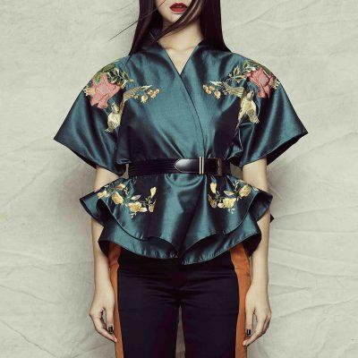 Silk Shantung Kimono