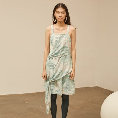 Mint Cube Scarf Dress