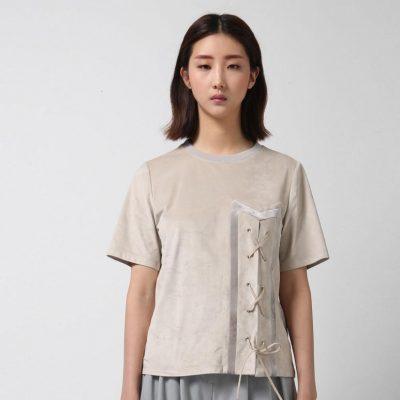 Suede T-shirt - Grey