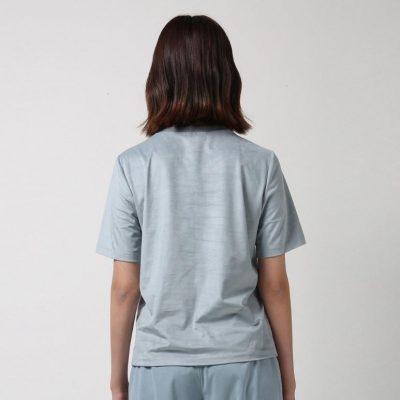 Suede T-shirt - Sky Blue