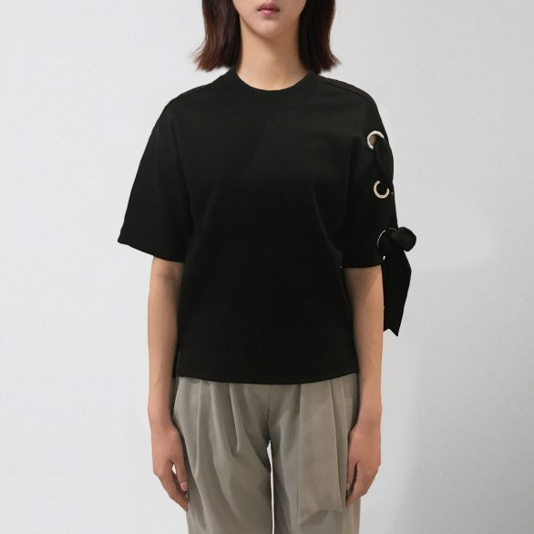 Braided Short Sleeve Tee - Black