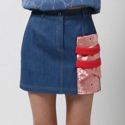Mixed Media Mini Skirt