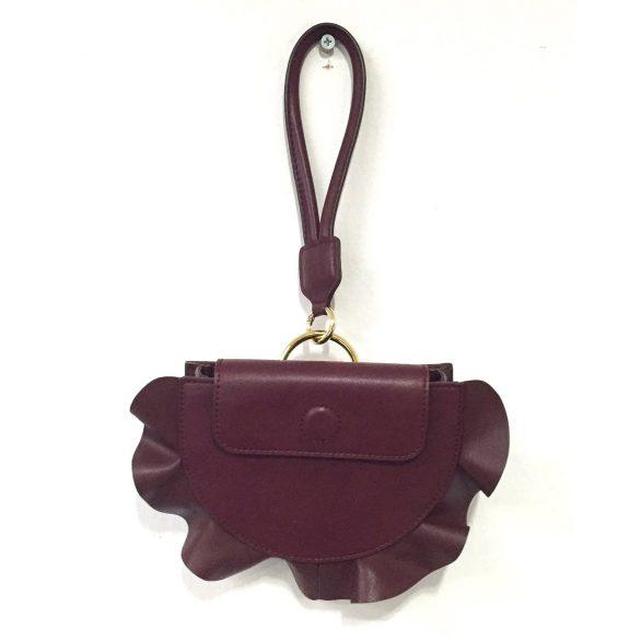 Burgundy Ruffle Mini Bag