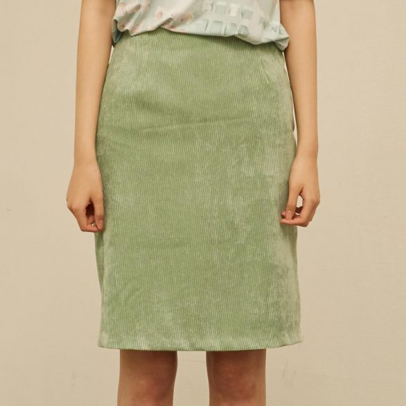 Mint Curdoroy Midi Skirt