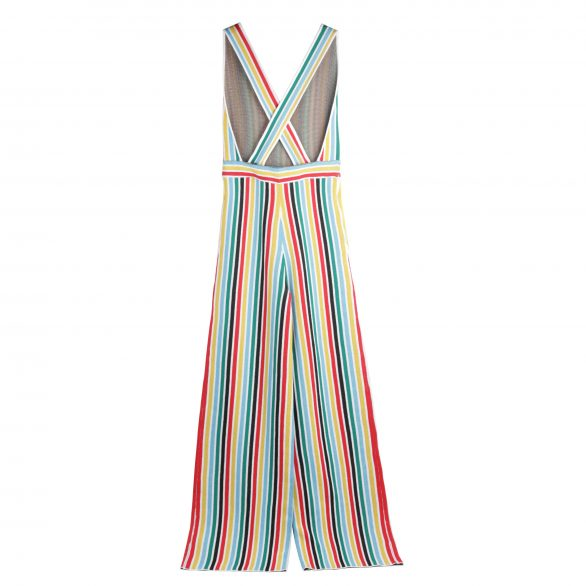 Loie Striped Crossback Jumpsuit