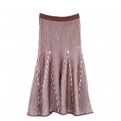 Sally Ottoman Stitched Flare Skirt
